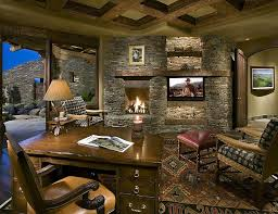 Stone On Walls Interior 15 Exquisite Home Offices With Stone Walls
