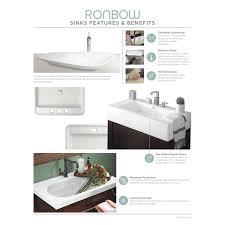 33 Inch Bathroom Vanity by Ronbow Chloe White Wood 37 Inch Bathroom Vanity Set With Ceramic