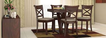 Dining Room Furniture  Buy Dining Furniture Online  Wooden Street - Solid dining room tables