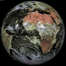 Sattelite World Map by Africa Africa Satellite Map