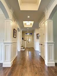walnut hardwood floors against white walls and doors beautiful
