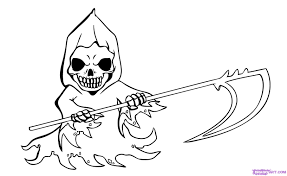grim reaper coloring pages grim reaper coloring page free