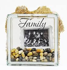 Ben Franklin Crafts and Frame Shop Glass Block Project Family