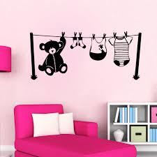 stickers chambre bébé mixte sticker chambre d enfant fil à linge enfants mixte destock stickers