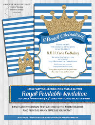royal blue baby shower invitations