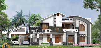 contemporary mix home plan kerala design and floor plans style