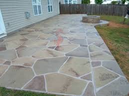 Cement Patio Designs How To Paint Cement Patio Home Design Ideas And Pictures