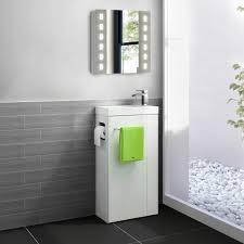 All In One Bathroom Vanity Model K47 849mm Brooklyn All In One Gloss White Vanity Unit