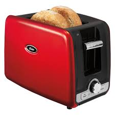 Red 2 Slice Toaster Oster 2 Slice Retractable Cord Toaster