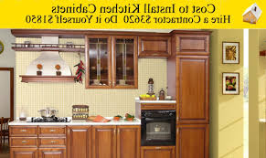 installing kitchen cabinets youtube cost to install kitchen cabinets youtube superior labor cost to