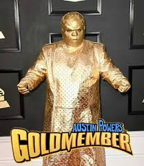 Goldmember Meme - austin powers in goldmember ceelo green s grammys outfit know