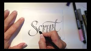 tattoo style lettering with lisa engelbrecht youtube