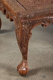 Carved Coffee Table Living Room Excellent Anglo Indonesian Hand Carved Coffee Table