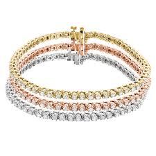 bracelet diamond gold tennis white images Stackable round diamond tennis bracelet in 10k yellow rose white jpg