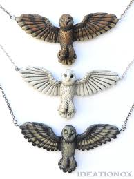 necklace owl images Barn owl necklace jpeg