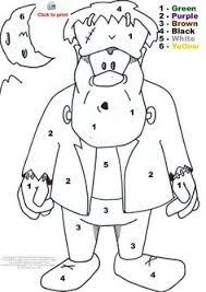 halloween coloring pages for kids halloween math centers first grade includes free printable