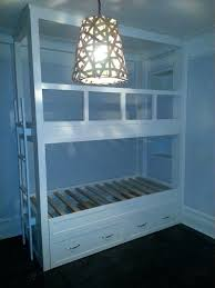 bunk beds built in bunk bed cool rail ideas beds diy dog with