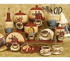 themed kitchen canisters coffee cafe kitchen wall decor coffee décor for kitchen to