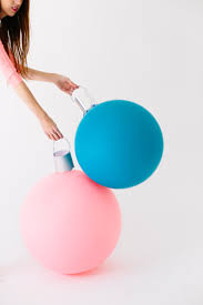 diy giant ornament balloons ornament xmas and craft