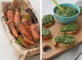 cuisiner les fanes de carottes tartinade dip aux fanes de carottes et à l avocat la cuisine d