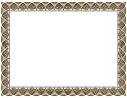 art certificate template clipart