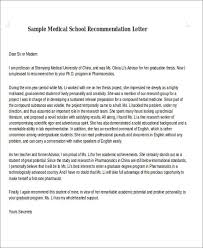 8 medical recommendation letter free sample example