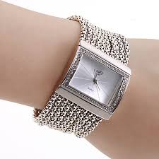 bracelet watches womens images Women 39 s pc movement silver band white dial bracelet watch with jpg