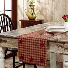 Primitive Table Runners by Vhc Brands Burgundy Khaki Star 36 U0026 034 Table Runner Country