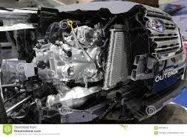 subaru legacy engine bangkok march 31 engine of subaru legacy outback on gray car