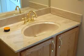 Poured Marble Vanity Tops Remodelaholic Painted Bathroom Sink And Countertop Makeover