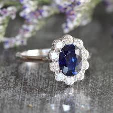 oval sapphire engagement rings diana and sapphire engagement ring halo wedding