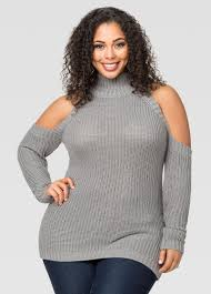 cold shoulder sweaters cold shoulder mock neck sweater plus size sweaters stewart