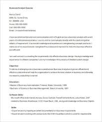 Email Resume Template Business Analyst Resume Template U2013 15 Free Samples Examples