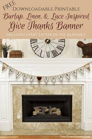 burlap thanksgiving banner free burlap linen lace printable banner the grove