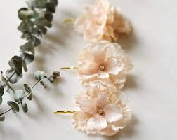 flower hair accessories lace hair accessory etsy