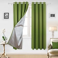 Blackout Kitchen Curtains Deconovo Blackout Curtains With Silver Coating Thermal