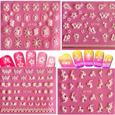 wholesale 1sheet designs new stickers nail art flower decals