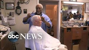 pence gets hair cut by barber who doesn u0027t recognize him youtube