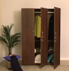 Wooden Wardrobe Price In Bangalore Spacewood Optima Engineered Wood 3 Door Wardrobe Price In India