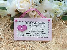 Matron Of Honor Poem Thank You Bridesmaid Poem In Celebrations U0026 Occasions Ebay