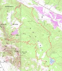 Henry Coe State Park Map by Annadel Suggestion 3 Bay Area Mountain Bike Rides