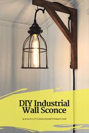 Iron Bedroom Wall Lamps Top 25 Best Industrial Wall Sconces Ideas On Pinterest