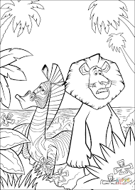 marty alex lost jungle coloring free printable