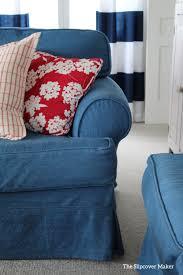 blue denim slipcover