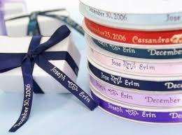personalized wedding ribbon efavormart