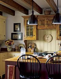 Country Themed Kitchen Ideas Modren Farm Country Kitchen Decor Metal Bar Stool Wall Mount