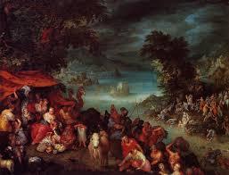 the flood with noah u0027s ark jan brueghel il vecchio oil painting