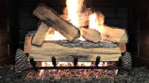alpine flame grand mountain gas log set burning demo youtube