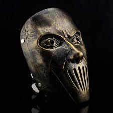 scary props resin slipknot joey scary mask silver bronze