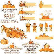 free vector happy thanksgiving day banner and pumpkin decorative